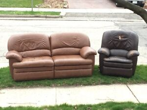 Free Lazy boy recliner.  Sofa is gone, chair is still available!