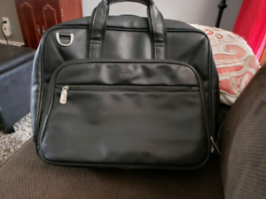 Mancini leather laptop briefcase