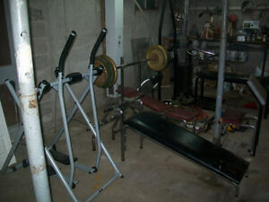 complete home gym 1200$ or best offer