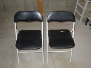 2 padded folding chairs