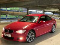 BMW 320d M SPORT COUPE AUTO ++ RARE RED ++ AUTOMATIC ++ E92 IDRIVE