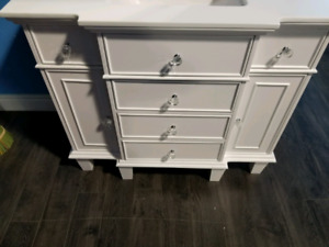 """42"""" White Solid Wood Vanity Cabinet - Clearance!"""