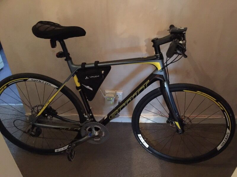 Carbon Scott S Solace Syncros Hybrid Road Bike In
