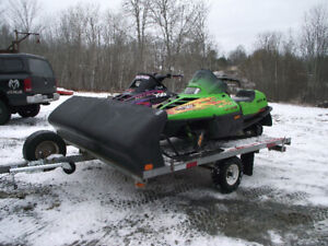 Polaris/Arctic Cat with double wide trailer