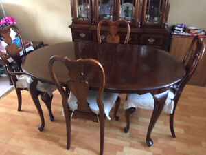 Dining Table, China Cabinet and Hutch