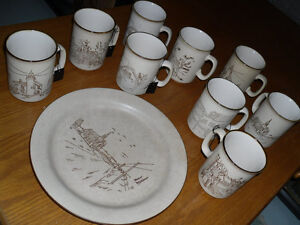 Manoir Collection - Vintage Mugs & Plate - Shell Canada