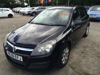 06 reg Vauxhall Astra 1.6i 16v Club BLACK