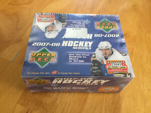Sealed Box (24 Packs) of 07/08 UD Series 1 Hockey