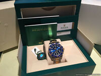 Rolex Submariner 116613 Steel & 18k Gold Ceramic Watch With Blue Face 2016