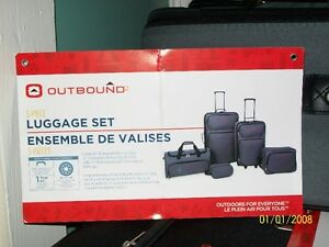 JUST REDUCED!! BRAND NEW/ 5 Piece Outbound Luggage Set