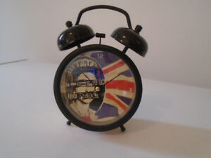 VINTAGE SEX PISTOLS GOD SAVE THE QUEEN TWIN-BELL ALARM CLOCK