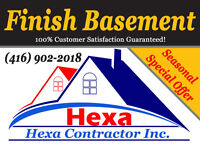 14.90 $/sqf *** Finish Basement up to 1'000 sqf by 14'900$