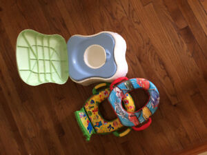2 Toilet Training Seats/Toilet & Step Stool Unit