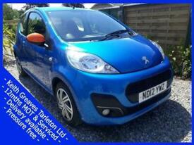 image for Peugeot ** 107 ** 1.0 Active 3 Door 2012 -Zero Road Tax- CHEAP INSURANCE