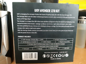 Ijoy avenger 270kit and 2 vapcell 20700 batteries