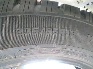 i have 2 - 235/55/18 studded winter tires