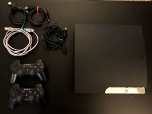 Playstation 3 PS3 Bundle 150GB 2 Controllers 27 Games