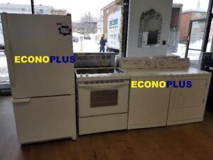 ECONOPLUS LIQUIDATION GRAND CHOIX DE 4 ELECTROMENAGERS PRIX A PARTIR DE 799.99$ TAXES INCLUSES