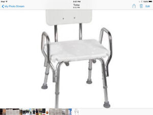 New bath chair with back and arms-Banc de Bain avec dossier