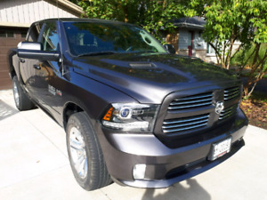 2016 Dodge Ram 1500, Crew cab, Sport, (granite color)