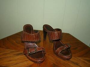 Feminine with an Edge! Frye Leather Sandals, Size 6 1/2 M