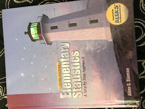 Used textbook: Elementary Statistics 5th edition