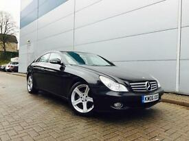 2006 06 reg Mercedes-Benz CLS 320 CDI 7G-Tronic + BLACK + SAT NAV + LEATHER