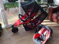 Hauck free rider travel system double pram/buggy