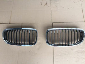 BMW E90 E91 M SPORT CHROME GRILLS X2 PAIR BREAKING 1 3 5 6 7 SERIES