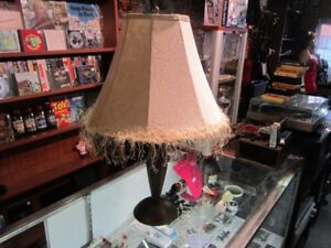 Decorative Table Lamp With Matching Shade For Sale