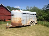 1986 Royal 16' Tandem Stock / Horse Trailer