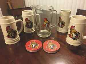 SENS Beer Steins and Pitcher