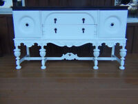 Refinished sideboard-hutch