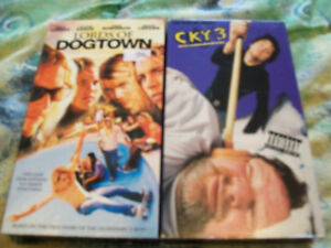 CKY 3 AND LORDS OF DOGTOWN SKATEBOARDING VHS LOT JACKASS