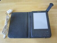 Kindle Ereader and leather case