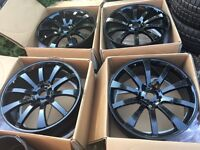 "Brand New 22"" Riva VW Transporter T5 T6 alloy wheels 5x120 Range Rover BMW X5 RRP��800"