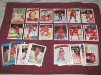 Group of over 50 Red Wings cards from 1970s & 80s - just $10
