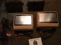 Xtrons DVD Headrests (Touch Screen)