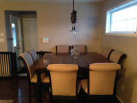 Bar Height Kitchen table and 8 Chairs