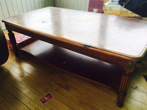 Large wooden coffee table for project