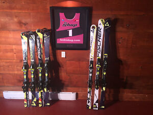 Fischer WC RC4 SL and GS skis