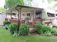 Trailer and lot for sale. Wild wood by the Lake camping restort