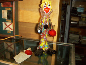 VINTAGE MURANO GLASS CLOWN-1990'S-NEEDS REPAIR