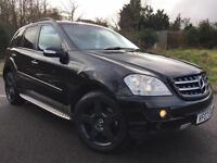 2007 07 MERCEDES-BENZ ML420 CDI SPORT 7G-TRONIC BLACK, GENUINE 124K