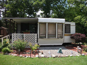 Seasonal Trailer on Beautiful Large Lot for Sale