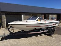 Fletcher GTO Arrowstreak 16ft water ski boat, with 75mp Mariner Oilinjecter outboard engine