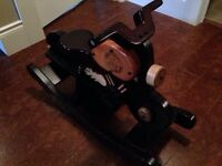 """Wooden motorcycle rocking """"horse"""""""