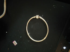 14k solid yellow gold Pandora bracelet
