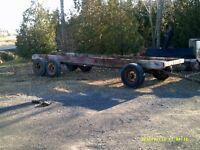 remorque trailer agricole foin bois machinerie grain animaux