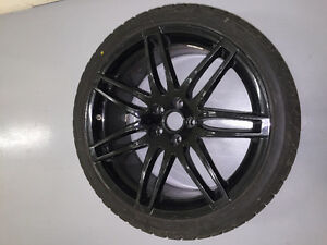 WINTER blizzak lm60fz 255 35 R19 AUDI RS4 rims BLACK